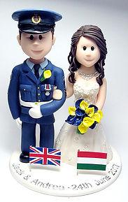 Royal Air Force RAF Themed Wedding Cake Topper