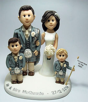 Scottish Family Weding Cake Topper