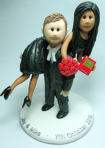Law Themed Wedding Cake Topper