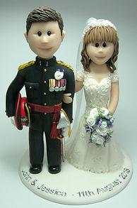 Ceremonial Uniform Wedding Cake Topper