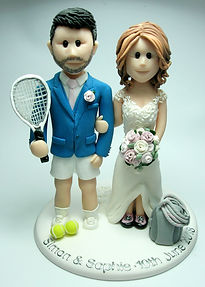 Tennis Themed Wedding Cake Topper