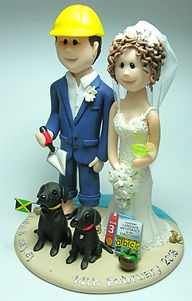 Builder Wedding Cake Topper Back