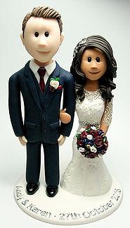 Mixed Race Wedding Cake Topper