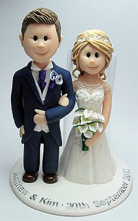 Wedding Cake Topper with Lillies