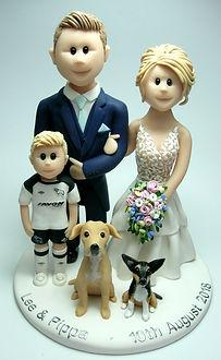 Family & Labrador Cake Topper