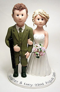 Gamed Keeper Wedding Cake Topper