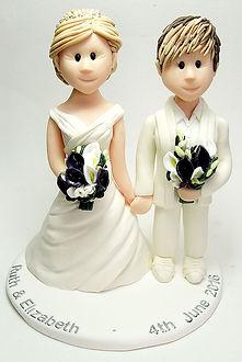 Lesbian LGBT Wedding Cake Topper Flowers
