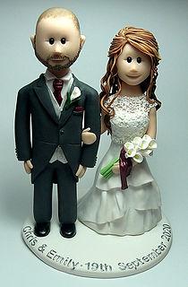 Red Hair Wedding Cake Topper