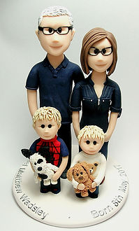 Family Cake Topper with Children