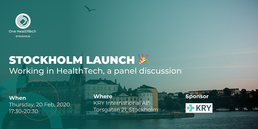 OHT Stockholm Launch: Panel Discussion on Working in Healthtech