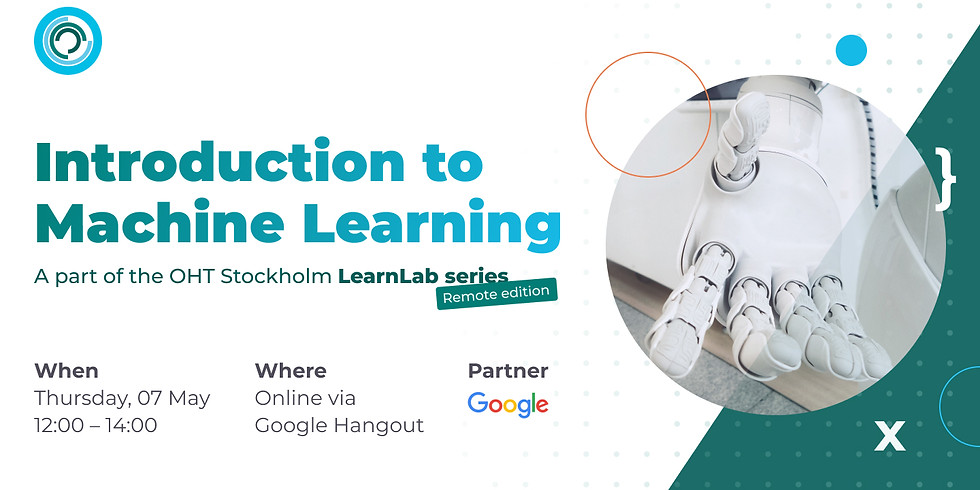 OHT Stockholm LearnLab: introduction to Machine Learning