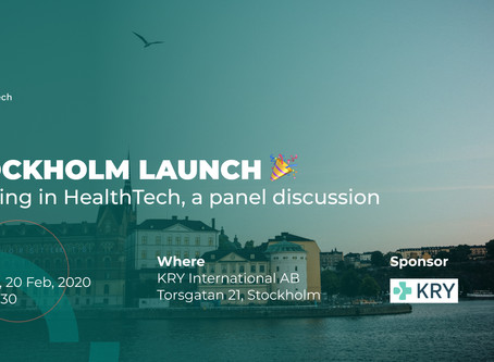 Stockholm launch and blast off!
