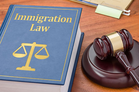 A law book with a gavel - Immigration la