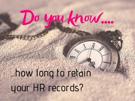 Record keeping - what you need to do