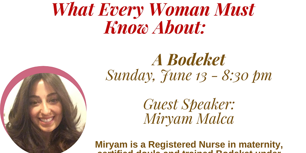 What Every Woman Needs to Know About A Bedeket
