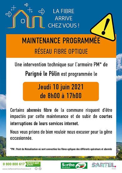 Sartel THD_Maintenance PM Parigné le Pol