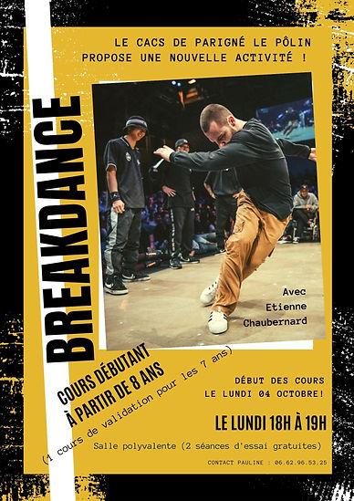 Breakdance CACS Parigné-le-Pôlin