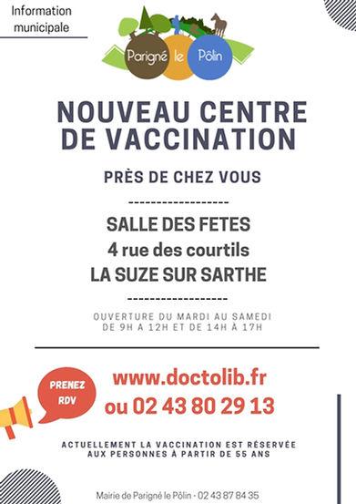 affiche Centre vaccination la Suze (3).j