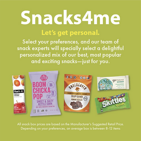 Snacks4me Box: select your preferences & we'll do the rest
