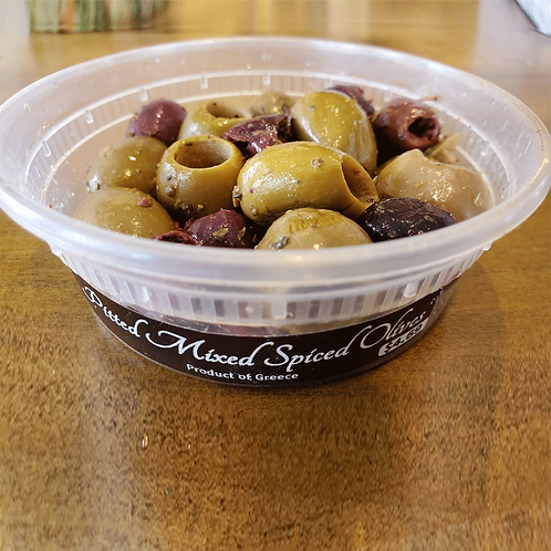 Stamoolis Mixed Spiced Olives (pitted)