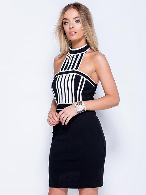 Stripe Panel Bodycon Dress