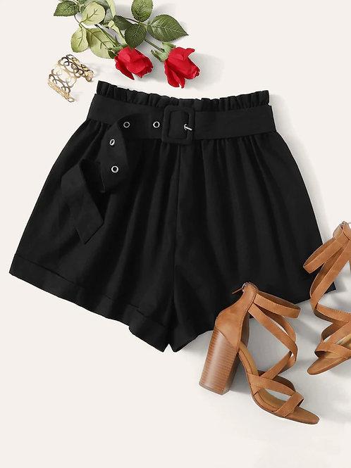 Fika Black Shorts