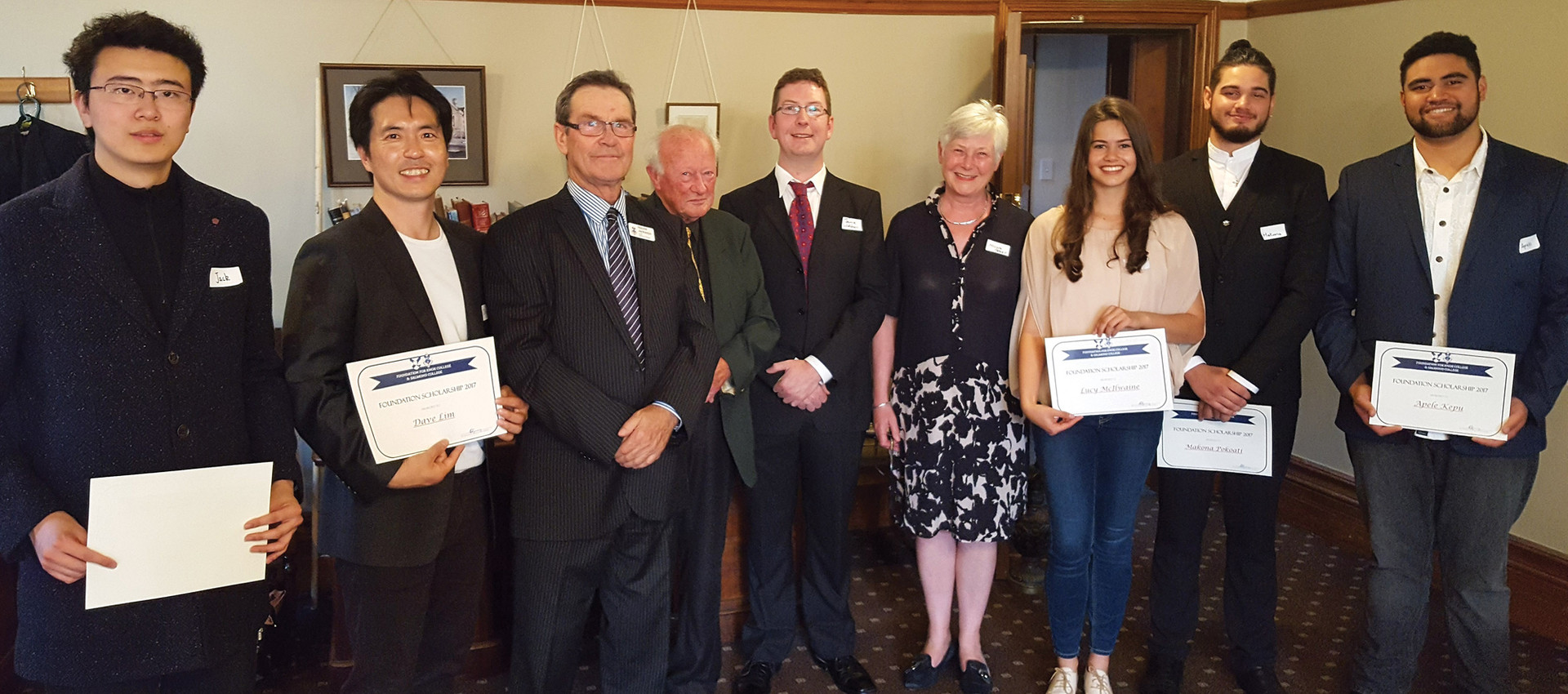 2018 Salmond College Scholarship Recipients