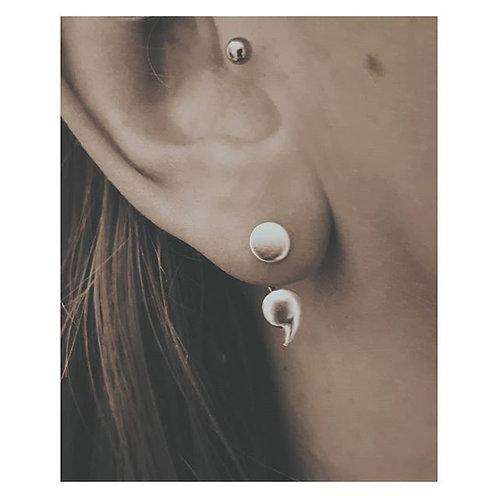 GRIT Semi Colon Earrings