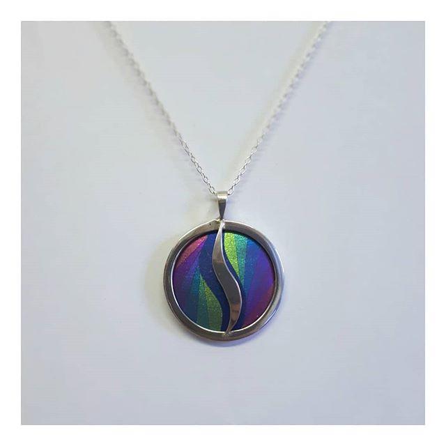 Silver and niobium pendant