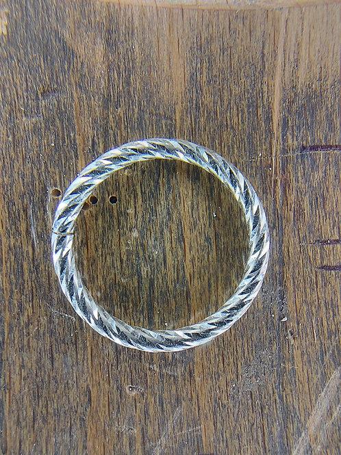 Diamond Engraved stacking rings