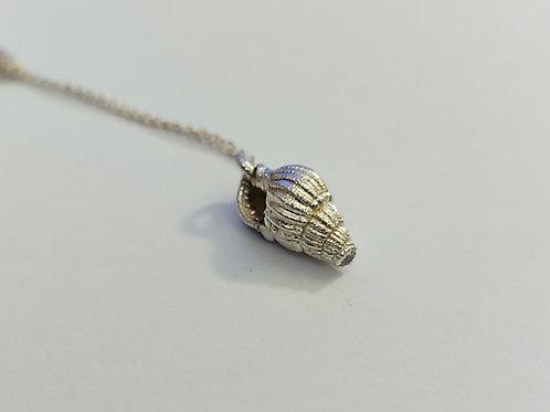 Silver shell pendants