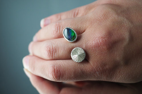 Engraved Opal Ring