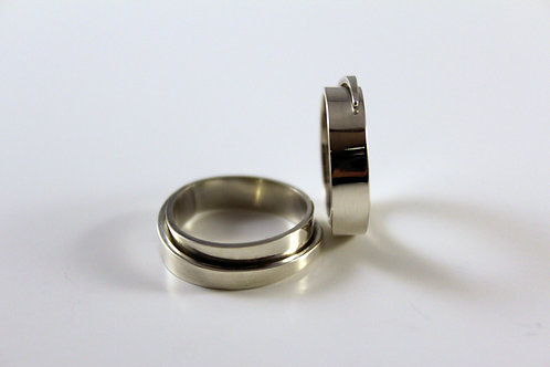 Small Plain Spiral Ring