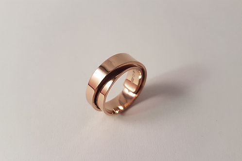 Rose Gold Plated Spiral Ring