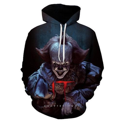 Movie IT Pennywise Clown Stephen King Horror Movie Hoodie Sweatshirt Men