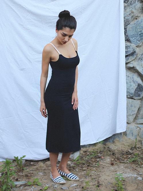 Трикотажное платье Dark Blue Midi