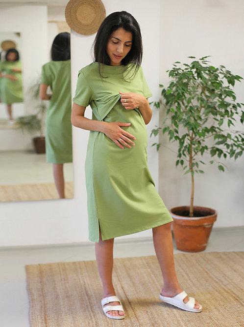 T-shirt dress light green