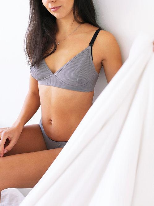 Grey Basic Bra