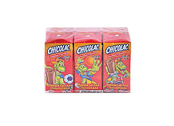 Bebida Láctea Chocolatada - 180ml. Six Pack - Chicolac