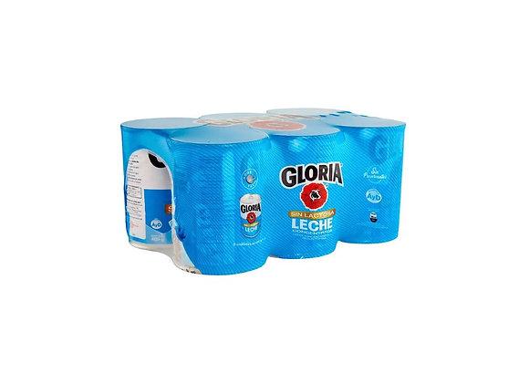 Leche Evaporada Deslactosada - Lata 400 gr.  6 Pack - Gloria
