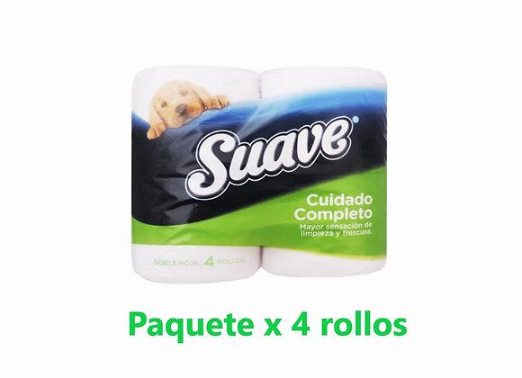 Papel Higiénico Suave - Cuidado Completo - Pack x 4