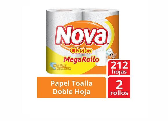 Papel Toalla Clásico Megarrollo -Pack x 2 - Nova