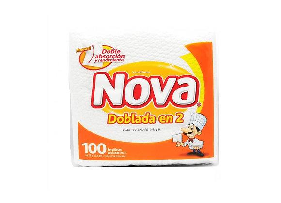 Servilletas Dob. en 2 - 100 unid. Nova