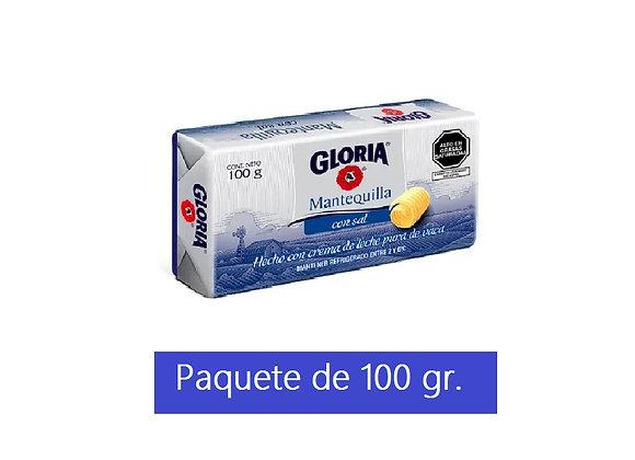 Mantequilla con sal - Paquete 100 gr. Gloria