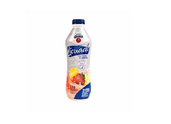 Yogurt licuado - Fresa y plátano - 1 Lt. - Gloria
