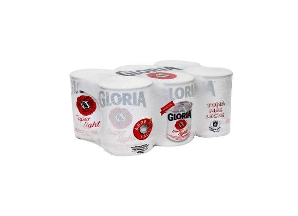 Leche Evaporada Súper Light - Lata 400 gr. - Six Pack Gloria