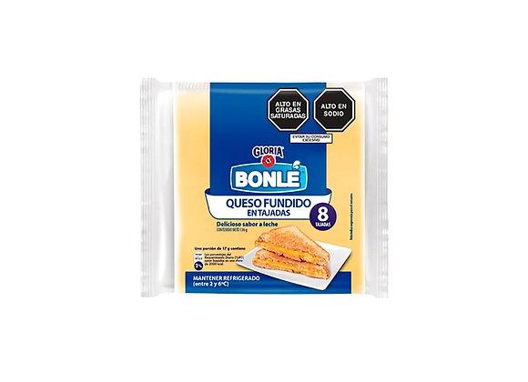 Queso fundido en tajadas - 130 gr.  Bonlé