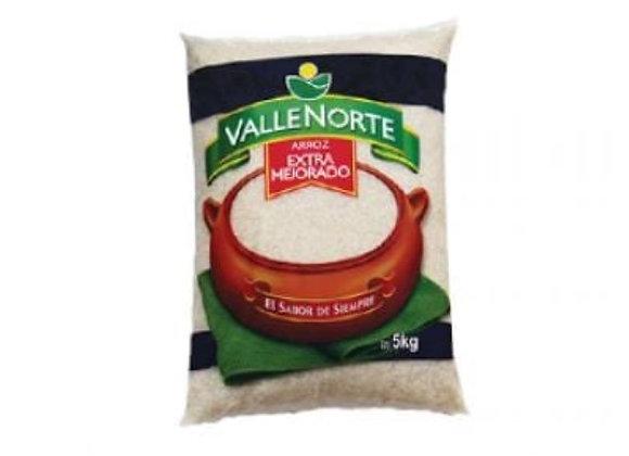 Arroz Valle Norte Extra Mejorado - Bolsa 5 Kg