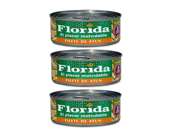 Filete de Atún en Aceite Vegetal - Pack x 3 - Florida