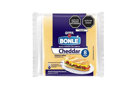 Queso Cheddar en tajadas - 186 gr. Bonlé